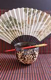 Rice bowl with chopsticks Royalty Free Stock Images