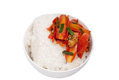 Rice. A bowl of delicious rice Stock Photography