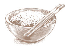 Rice in the bowl Royalty Free Stock Images