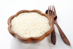 Rice on bowl Stock Images