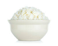 Rice with bowl isolated on the white background Stock Photo