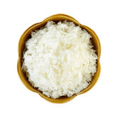 Rice in a bowl isolated on a white background Stock Image