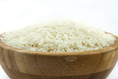 Rice in the Bowl on Isolated White Background. Rice in the Bowl on Isolated White Background Stock Photo