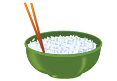 Rice bowl Stock Photography