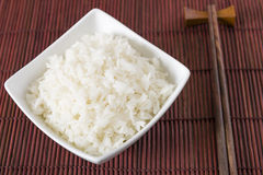 Bowl of Steamed Rice Stock Image