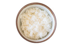 Rice in a bowl Royalty Free Stock Images