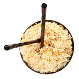 Rice Bowl with Vertical Chopsticks Royalty Free Stock Image
