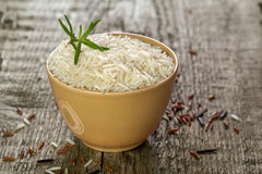 Rice in a bowl with Stock Photo