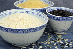 Rice in bowls Stock Image
