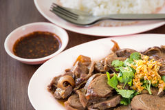 Rice braised pork Royalty Free Stock Image