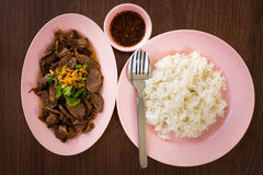 Rice braised pork Stock Photography
