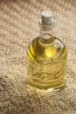 Rice bran oil in a bottle Royalty Free Stock Photo