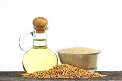 Rice bran oil Stock Photography