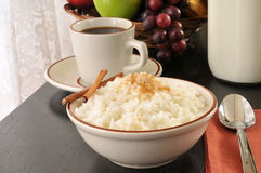 Rice with brown sugar and cinnamon Royalty Free Stock Photo