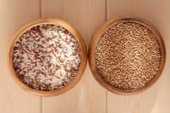 Rice and buckwheat. Royalty Free Stock Photography