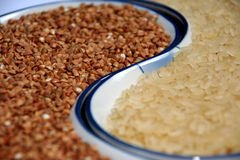 Rice and Buckwheat Royalty Free Stock Image