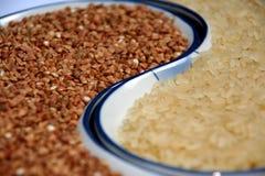 Rice and Buckwheat Royalty Free Stock Image