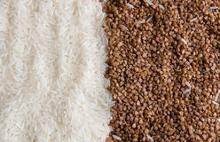 Rice and buckwheat Royalty Free Stock Photography