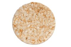 Rice cake. A photo of a rice cake on the white background Royalty Free Stock Photos