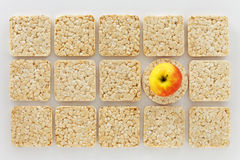 Rice Cake and Apple Stock Photography