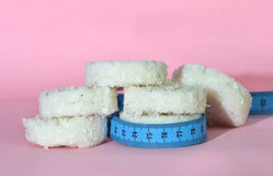 Rice cake diet Royalty Free Stock Photo