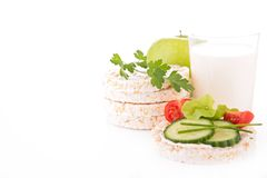 Rice cake and milk Royalty Free Stock Images
