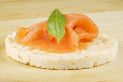 Rice cake with salmon Stock Image