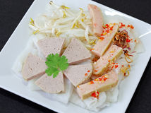 Rice cake and Shrimp Paste Stock Photography