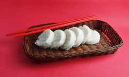 Rice cake slices Stock Photos