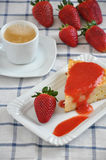 Rice Cake with Strawberries Stock Photography