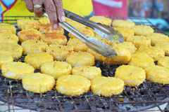 Rice cakes in asia - asia food.  royalty free stock photo