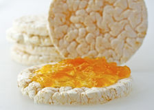 Rice cakes with jam Royalty Free Stock Photography