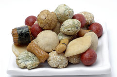 Rice cakes, Japanese Rice-Cracker Royalty Free Stock Photo