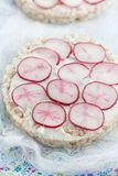 Rice cakes sandwiches Royalty Free Stock Images