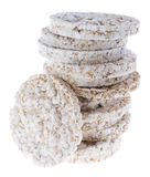 Rice Cakes on white Royalty Free Stock Photos