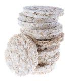 Rice Cakes on white Royalty Free Stock Photos