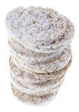 Rice Cakes on white Stock Photo