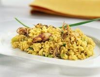 Rice with calamaries Royalty Free Stock Photos