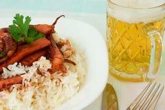Rice with calamaries Stock Photo