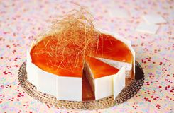 Rice Caramel Mousse Cake Stock Image