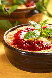 Rice casserole with apples Royalty Free Stock Photo