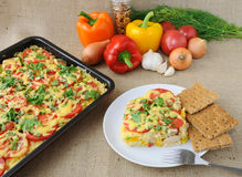Rice casserole with vegetables Royalty Free Stock Photo