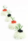 Rice with caviar and anise Stock Images