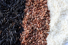 Rice cereal is crisp white black brown Stock Photography