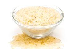 Rice cereal in a glass plate Stock Photo