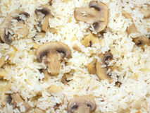 Rice with Champignon closeup Royalty Free Stock Photography