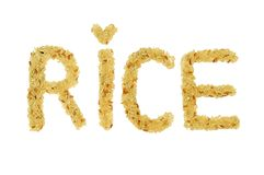 Rice on Character Royalty Free Stock Photo