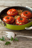 Rice Chard Baked Tomatoes Royalty Free Stock Photography