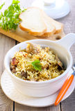 Rice and chicken casserole Royalty Free Stock Image