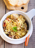 Rice and chicken casserole Royalty Free Stock Images